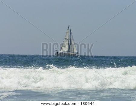 Sailboat And Wave
