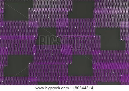 Violet Circular Grates On Dark Grey Background