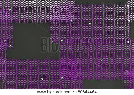 Violet Circular Grates On Dark Grey Background