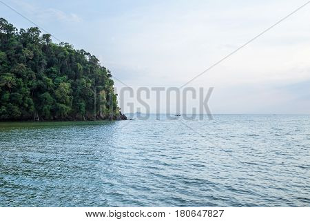Tropical beach and island in Andaman Sea Thailand