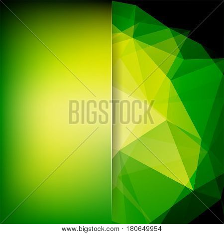 Abstract Background Consisting Of Green, Yellow Triangles. Geometric Design For Business Presentatio