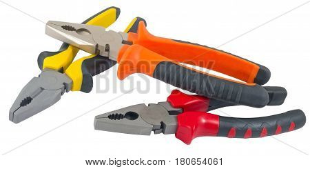 the hand tools isolated on white background