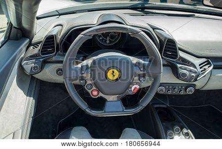 Ferrari Dashboard Close-up