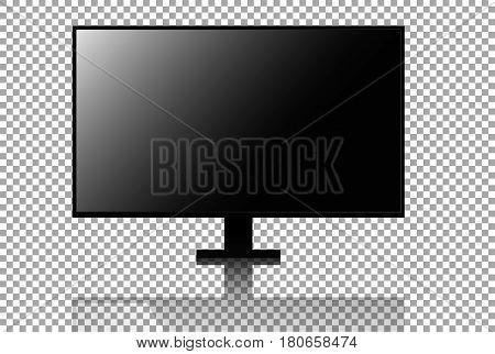 Realistic 4k tv vector Television screen mockup