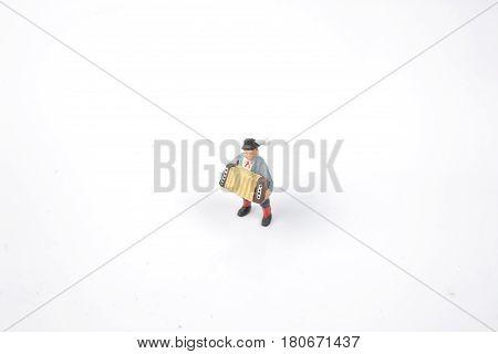 Accordian Player Figure Of Miniature World