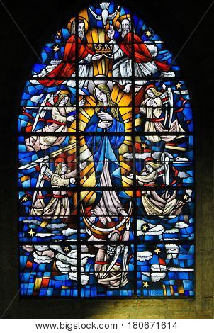 Stained Glass - Mother Mary