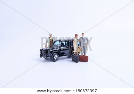 Toy Of Taxi Isolated With Figure