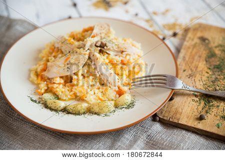 pilau, food, vegetable, table, rice, curry, dinner, plate