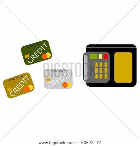 Vector illustration of generic credit card reader device