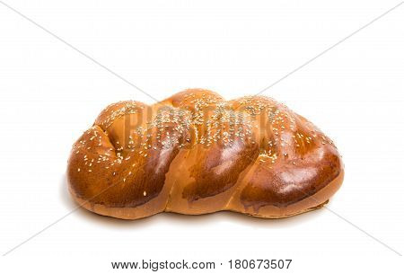 Bun roll brown  bread isolated on white background