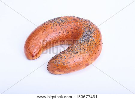 Assorted fresh breads isolated on a white background