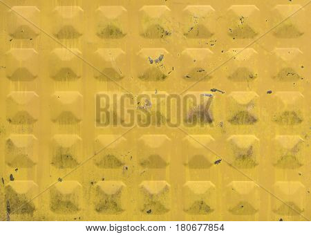 Yellow and metal grunge background. Pattern background