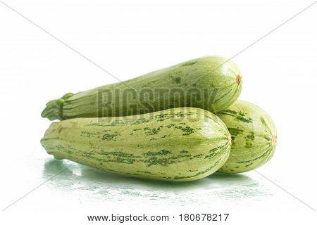 Three Fresh Zucchini