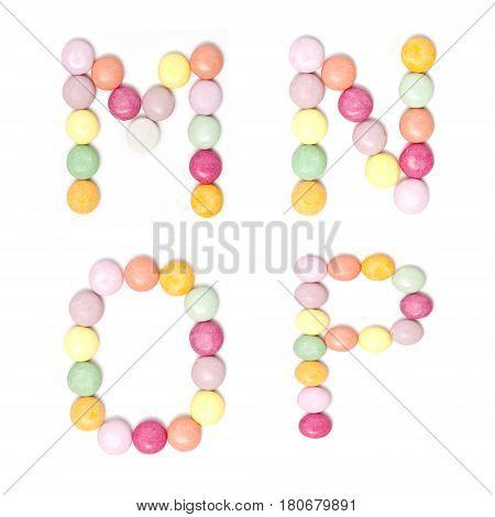 Colorful Candy Alphabet Set