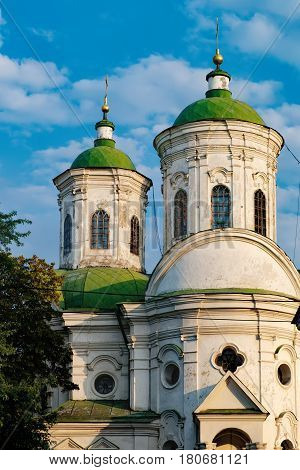 Pokrovska church is an Orthodox stone Church and a monument of architecture located in Podil. Historical center of Kyiv, Ukraine