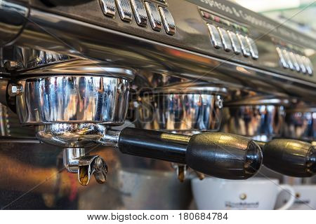 Coffee Machine Handle Espresso Professional Chrome Idle