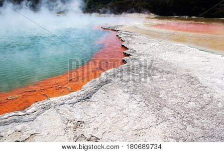 The Champagne Pool within the Waiotapu geothermal area