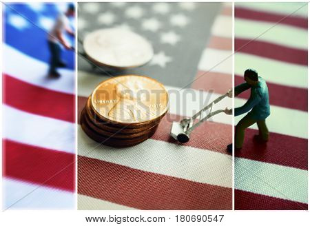 Money With The American Flag High Quality