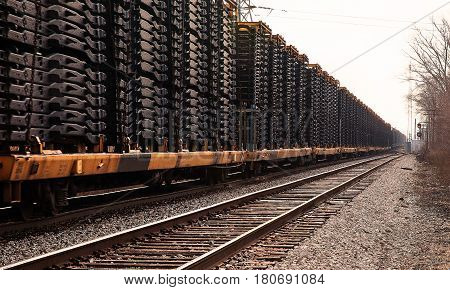 Automotive railroad cars in Detroit area yards
