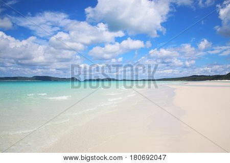 Whitehaven beach at Whitsundays Island in Australia