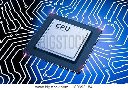 Cpu Chip On Circuit Board