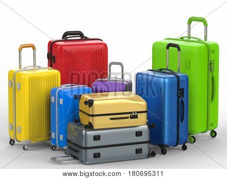 Hard Case Colorful Luggages