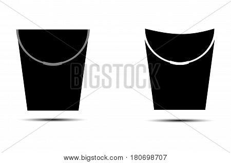 bucket icon vector illustration , pail ,