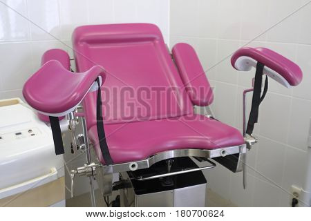 gynecological chair close up