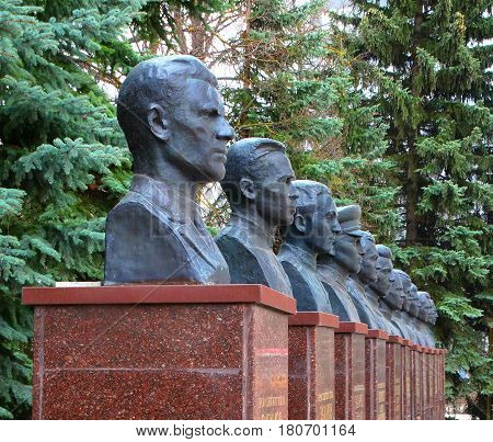 Monuments to war veterans heroes victory courage homeland USSR 9 May fascism Germany Russia dead