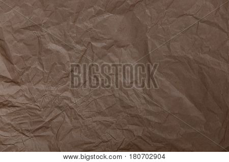 Brown Crumpled Wrapping Paper As Background