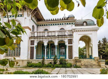 FEODOSIA, RUSSIA - MAY 13 2016: Stamboli's Villa in Feodosia, Crimea.