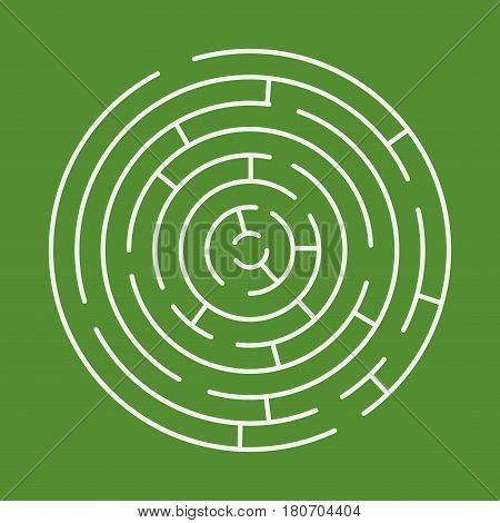 Maze Labyrinth With Entry And Exit.