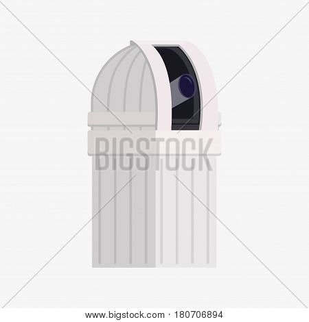 Planetarium apparatus for projection. Vector flat illustration. poster