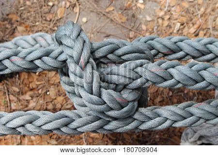 Close up rope bundle Tight fit .