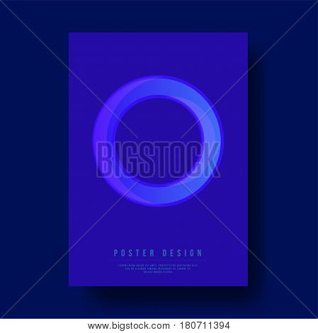 Abstract Circle Cover Design - Vector illustration template