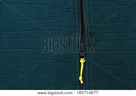 Jacket With Zipper Close-up