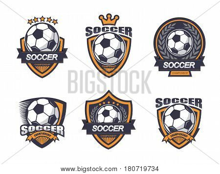 Illustration of soccer logo set.It's for soccer logo and label.