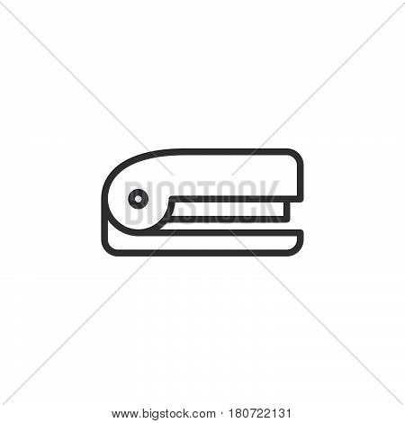 Stapler line icon outline vector sign linear style pictogram isolated on white. Symbol logo illustration. Editable stroke. Pixel perfect