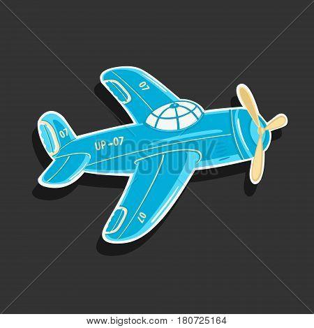 Cartoon Airplane Vector eps 8 file format