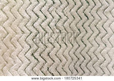 Close up white fluffy textile material background