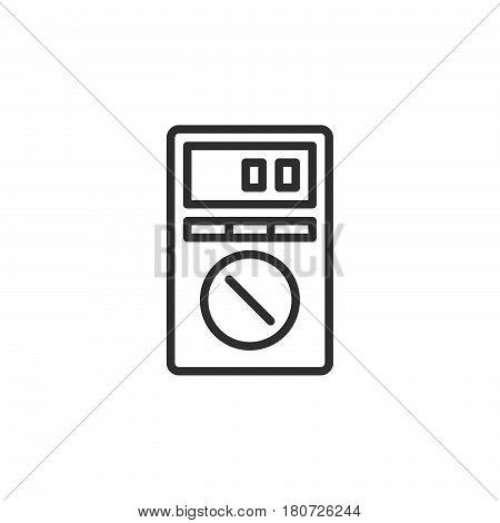 Digital Multimeter line icon outline vector sign linear style pictogram isolated on white. Symbol logo illustration. Editable stroke. Pixel perfect