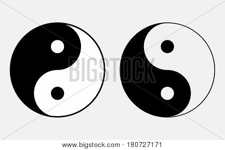 Vector illustration of the sign of Chinese philosophy of the symbol of Confucianism icons symbolizing the unity of Yin and Yang began.