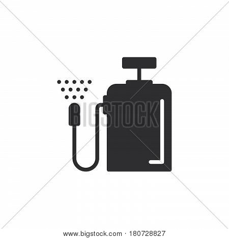 Pressure sprayer icon vector filled flat sign solid pictogram isolated on white. Symbol logo illustration. Pixel perfect