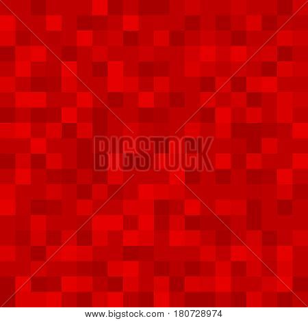 Abstract pattern background of red monotonous squares in the same color palette for web sites. Flat style. Dark illustration. wallpaper. Mosaic