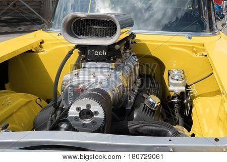 Chevrolet Bel Air Engine On Display
