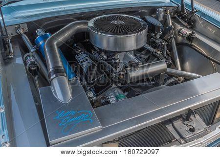 Chevrolet Nova Engine On Display