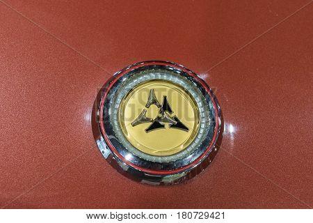 Dodge Vintage Emblem On Display