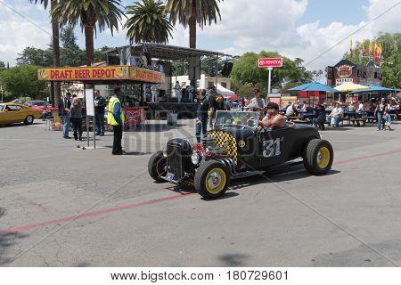 Hot Rod Car On Display