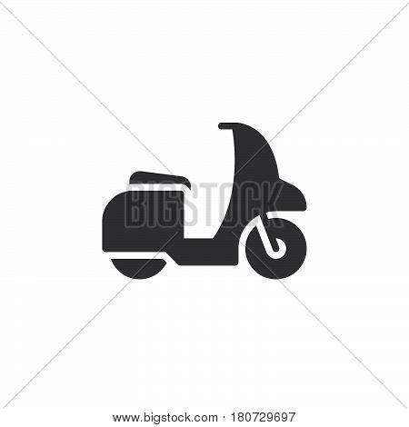 Motor scooter icon vector filled flat sign solid pictogram isolated on white. Symbol logo illustration. Pixel perfect