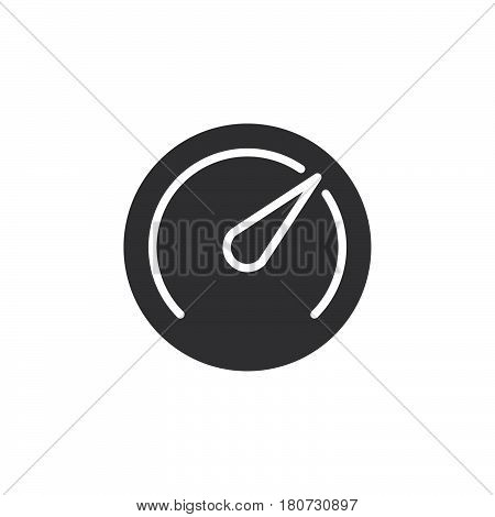 Speedometer Gauge icon vector filled flat sign solid pictogram isolated on white. Symbol logo illustration. Pixel perfect
